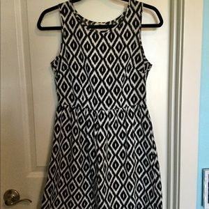 One Clothing Black and White Geometric Print Dress